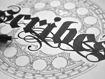 #step 4: «Scribes» {Rosette} guerriero typographie calligraphie