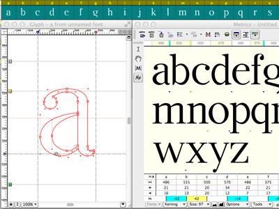 #step 1: Type Design {in progress} guerriero typographie type design fontlab