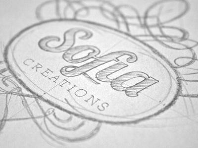 #step 1: Sofia Creations {in progress} logotype