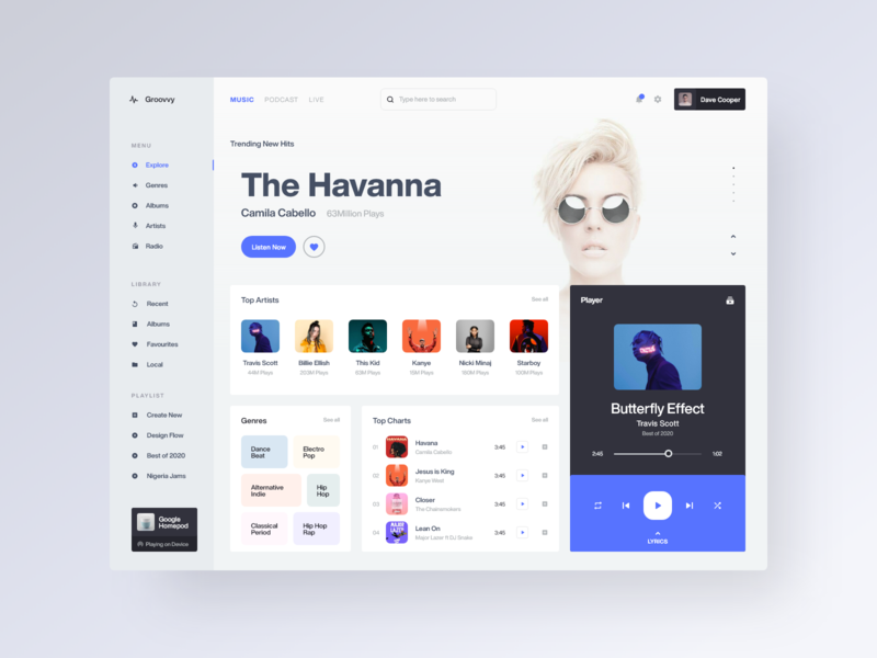 Music Player Web Application playlist album music player desktop web app music clean daily ui ui web minimal app design