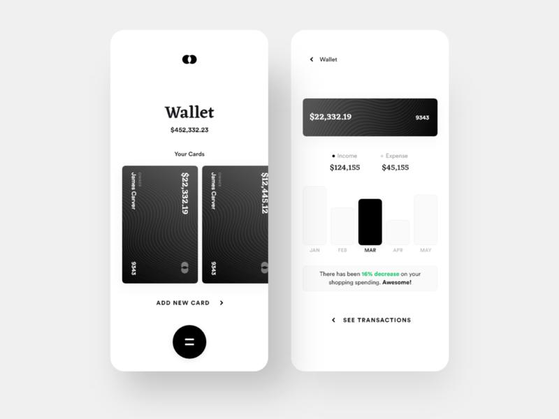 Bankie: Wallet payment bank card finance wallet bank app clean ui daily ui ios minimal app design