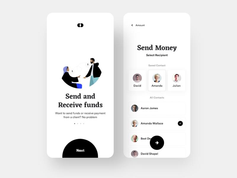Bankie: Send Money transfer wallet payment bank app bank clean daily ui ios minimal app design