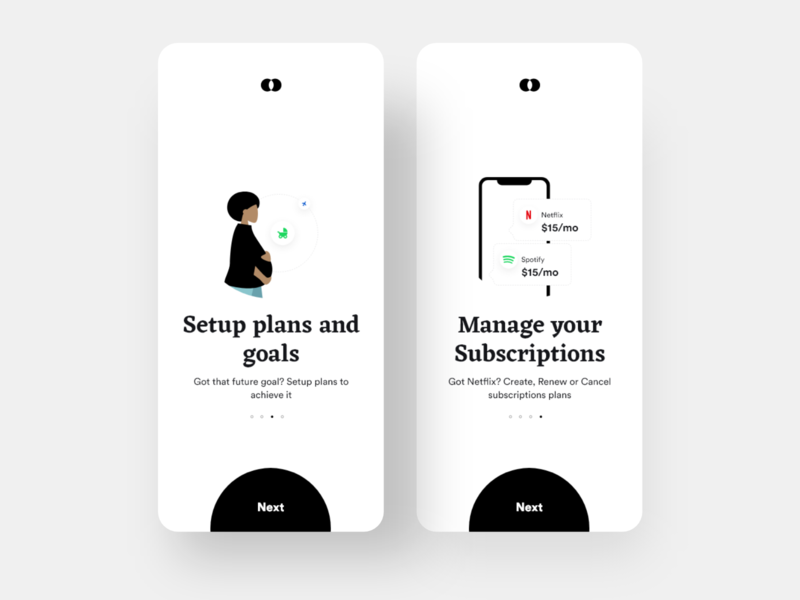 Bankie: Plans and Subscriptions Onboarding wallet transfer onboarding onboarding screen subscription transactions payment app payment minimal ios design dailyui daily ui clean banking app bank app