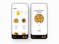 Hunggie: Food Order recipe book cart recipe recipe app meal food order food delivery app food delivery foodie food app dailyui ui clean daily ui ios minimal app design