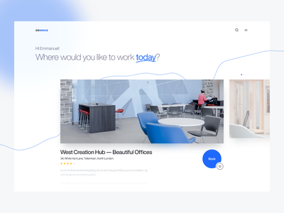 CoSpace — Co-Working Space finder agency home office furniture work interior office space coworking remote work coworking space space web app web dailyui ui clean daily ui minimal app design