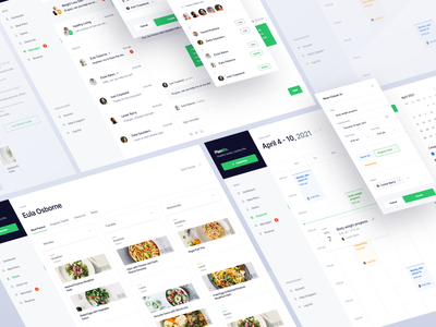Planlife — Meal Planner for Nutritionists tracker tracking app dashboad recipe app calendar app tasks diet app date picker calendar meal planner meal web app web clean daily ui minimal app design