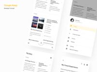 Google Keep Redesign concept