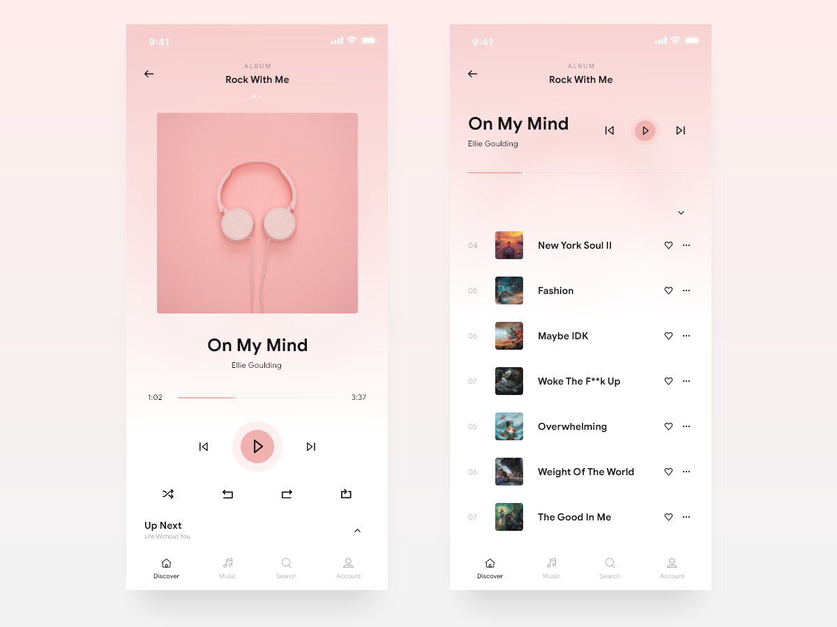 Music Player Design spotify app music player design ios music