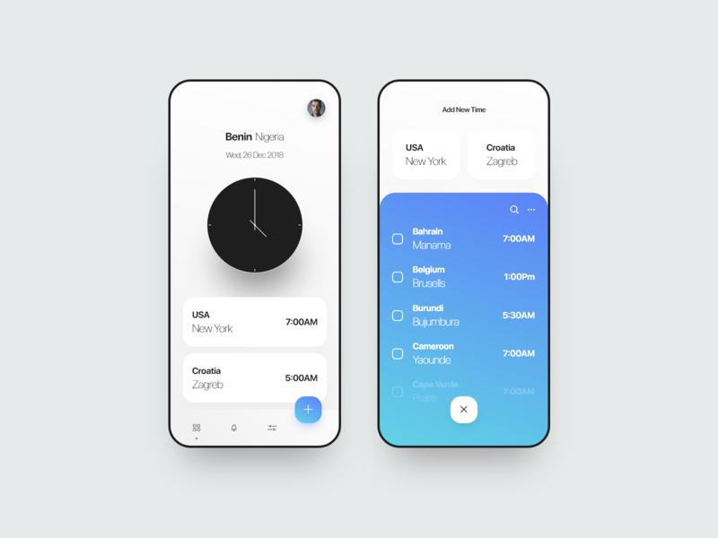 Minimal Clock App dailyui web minimal app design clock ios app minimal
