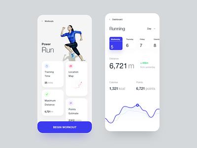 Fitness App statistics dashboard ui dashboard fitness app fitness workout tracker workout app workouts daily ui minimal ui ios app design