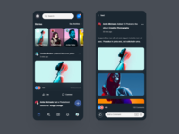 Facebook Mobile App Redesign Concept - Dark Version