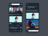 Facebook Mobile App Redesign Concept - Dark Version