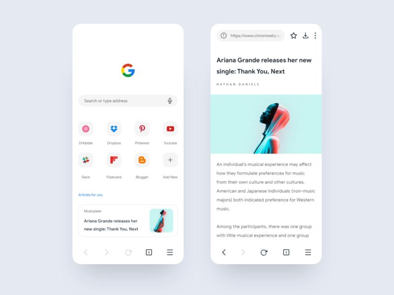 Google Chrome Redesign