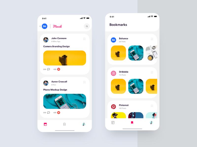 Muzli for Mobile - Design Concept muzli mobile app design mobile