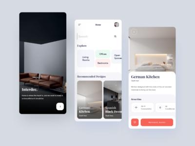 Interior Design mobile app interior mobile ios home app design