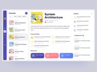 Student Web App - Courses
