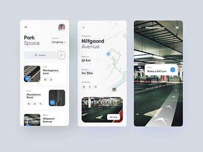 Parking Space app parking location app clean daily ui app ios design space booking parking lot parking app