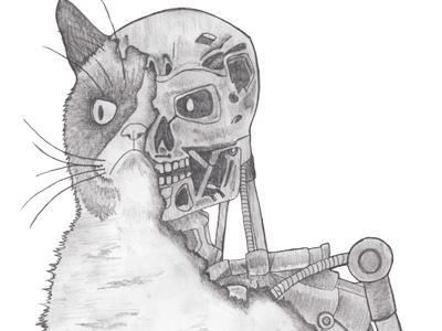Terminator Grumpy Cat