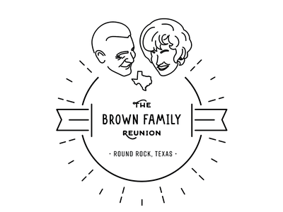 The Brown Family Reunion | 2019 circle logo t-shirt design grandparents texas family reunion logo