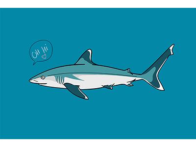 Silvertip Shark By Olha Sukharevska Dribbble Dribbble