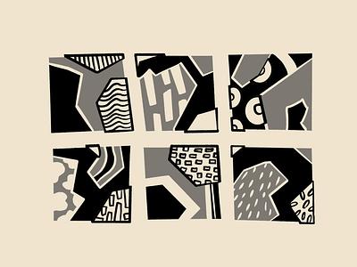 Experiment branding simple pattern monochrome blackandwhite design sketch shapes illustration composition