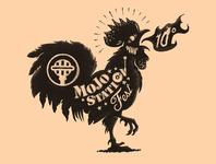 Mojo Station Blues Fest - logo illustration