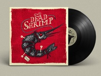 Dead Shrimp - Vinyl & Cd artwork illustration, logo