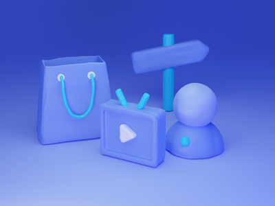 clay style objects clay blender 3d