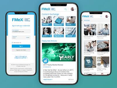 FMeX Progressive Web App php aws sql js sass css3 html5 responsivedesign mobile ui ux