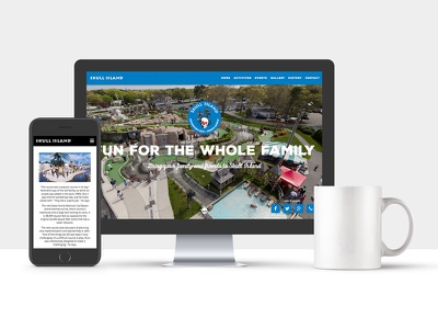 Skull Island Marketing Website ui ux development design marketing responsive web
