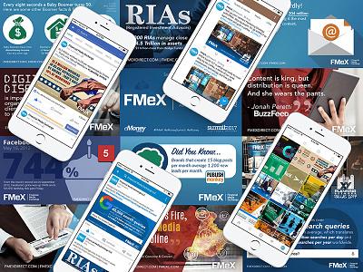 Financial Media Exchange Social Media imagery graphic design social media