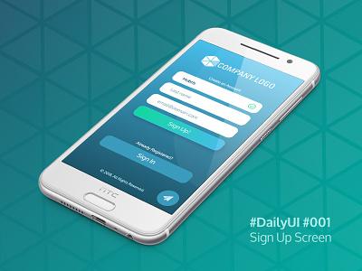 Dailyui 001 ui design interface sign up app mobile 001 daily ui