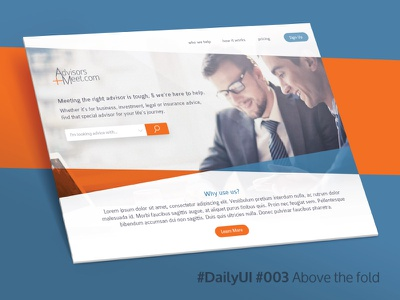 Daily UI 003: Above the fold. ui ux design web above the fold 003 daily ui