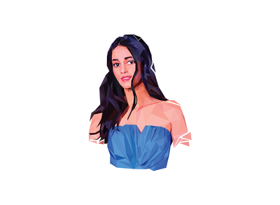 Low poly art of Ananya Pandey
