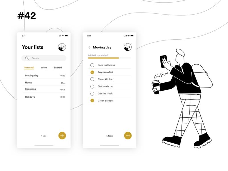 Daily UI Challenge #042 illustration mobile design app sketch ui dailyui design