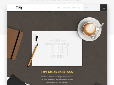 The Tiny One - Website UI  [ part II ] personal project tiny house typography illustration line design clean website web ui
