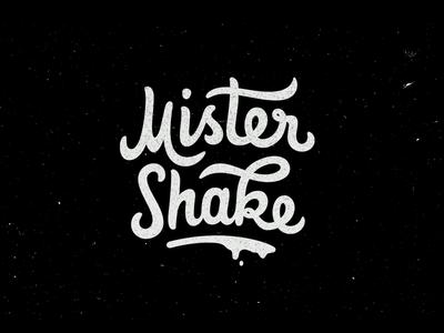Mister Shake typography lettering illustration hand-drawn design chocolate character branding