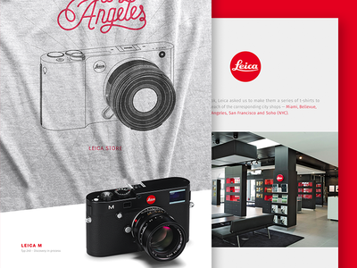 Leica T-shirts line work photography type custom lettering typography t-shirt illustration apparel
