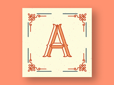 Letter A design clean dropcap illustration lettering typography letter a type