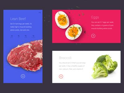 FOODERY FIT - Ingredients Slider UI foodery fit fitness sketch slider web ui food