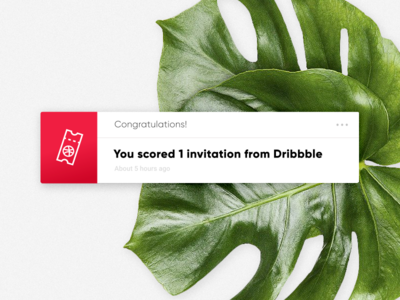 Dribbble Invite - Giveaway Ended! ⌛️ now apply leaf trend card ui draft invitation giveaway invite dribbble