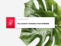 Dribbble Invite - Giveaway Ended! ⌛️