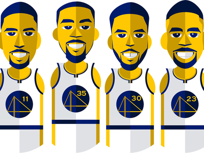 Golden State's Fab Four nba draymond green klay thompson kevin durant steph curry warriors golden state warriors