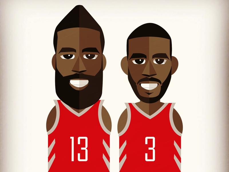2608cebe363f CP3   The Beard houstonrockets illustration basketball nba thebeard cp3. Houston  Rockets Chris Paul   James Harden illustration. Pin Tweet Copy