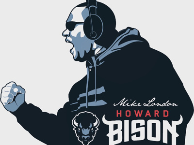 Coach London football illustration