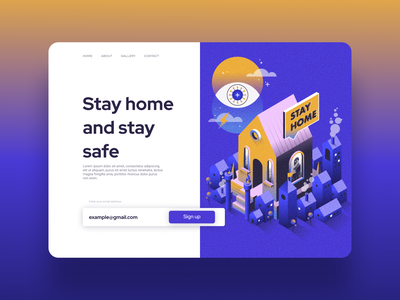 Stay home landing  page webdesign stayhome landingpage landing page design graphicdesign technology app concept uxdesign design interaction user interface ux inspiration ui design ui