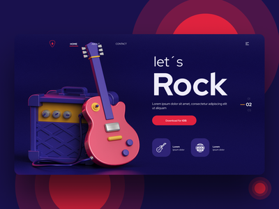 Landing page guitar appdesign app rock guitar landing page design landingpage web design web product design technology ux uxdesign user interface ui design interface interaction inspiration app design ui