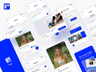 Trello concept graphic design web webdesign app application concept trello product design technology design app concept interface uxdesign ui design interaction ux app design ui inspiration