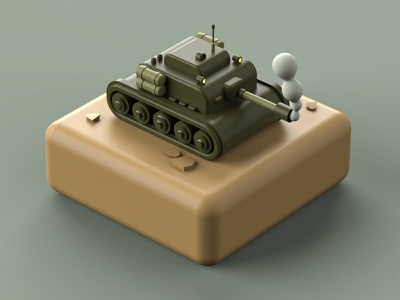 Tank designer flatdesign isometric illustration isometric art isometry tank war maxonc4d c4d render 3d art 3d artist 3d vector illustration design inspiration