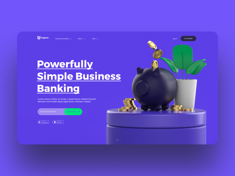 PigBank appbank cinema4d vector logo illustration branding 3d technology user interface app concept design interface uxdesign ui design interaction ux ui app design inspiration